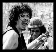 Santana and Brown at Woodstock 1969